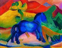 PGM Franz Marc - Blaues Pferdchen Kunstdruk 90x70cm