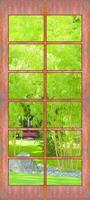 Papermoon Deur met Bamboe Vlies Fotobehang 90x200cm