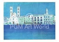PGM Ralf Westphal - Weiße Hafenstadt in Apulien Kunstdruk 70x50cm
