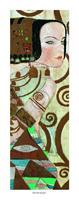 PGM Gustav Klimt - L'attesa Kunstdruk 20x50cm