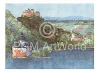 PGM Helga Westphal - Oberwesel und Pfalz, Rhein Kunstdruk 70x50cm