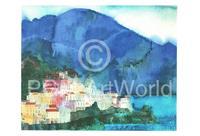 PGM Ralf Westphal - Amalfi, Golf von Salerno Kunstdruk 70x50cm