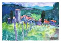PGM Ralf Westphal - Castello di Spaltenna, Chianti Kunstdruk 70x50cm
