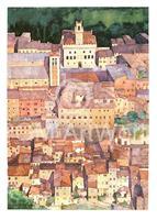 PGM Ralf Westphal - Mittelalterliche Bergstadt Montepulciano, Toskana Kunstdruk 50x70cm