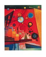 PGM Wassily Kandinsky - Schweres Rot Kunstdruk 40x50cm