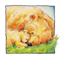 PGM Makiko - Mother Bear's Love II Kunstdruk 30x30cm