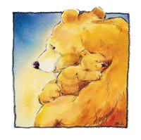 PGM Makiko - Mother Bear's Love I Kunstdruk 30x30cm