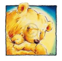 PGM Makiko - Mother Bear's Love IV Kunstdruk 30x30cm