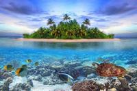 Papermoon Malediven Vlies Fotobehang 250x180cm