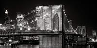 PGM Alan Blaustein - Brooklyn Bridge at Night Kunstdruk 91x45cm