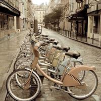 PGM Alan Blaustein - City Street Ride Kunstdruk 68x68cm