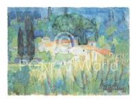 PGM Ralf Westphal - Mittagshitze in der Toscana Kunstdruk 80x60cm