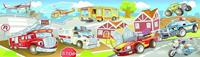 Papermoon Kids Cars Panorama Vlies Fotobehang 350x100cm