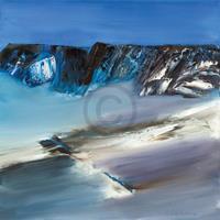 PGM Conny Roßkamp - Eislandschaft III Kunstdruk 98x98cm