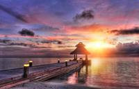 Papermoon Zonsondergang Malediven Vlies Fotobehang 350x260cm