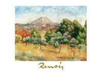 PGM Auguste Renoir - Il mont Sainte-Victoire Kunstdruk 70x50cm