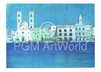 PGM Ralf Westphal - Weiße Hafenstadt in Apulien Kunstdruk 40x30cm