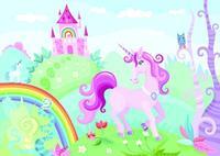 Papermoon Kids Purple Unicorn Vlies Fotobehang 250x180cm