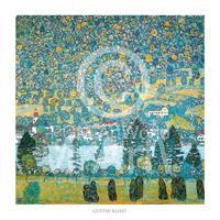 PGM Gustav Klimt - Pendio montano a Unterach Kunstdruk 70x70cm