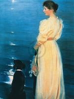 PGM Peter Severin Krøyer - Summer evening at Skagen Kunstdruk 60x80cm