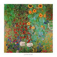 PGM Gustav Klimt - Il giardino di compagna Kunstdruk 70x70cm