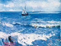PGM Vincent Van Gogh - Paesaggio marino Kunstdruk 80x60cm