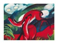 PGM Franz Marc - The red Deer Kunstdruk 80x60cm