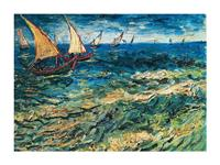 PGM Vincent Van Gogh - Seascape at Saintes-Maries Kunstdruk 80x60cm