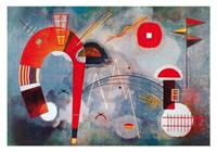 PGM Wassily Kandinsky - Rond et pointu Kunstdruk 100x70cm