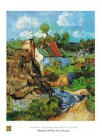 PGM Vincent Van Gogh - Houses at Auvers Kunstdruk 60x80cm