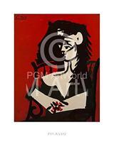 PGM Pablo Picasso - Jacqueline a Mantil Kunstdruk 40x50cm