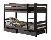Vipack Stapelbedset Pino combo met stapelbed 140cm en 2 lades - taupe