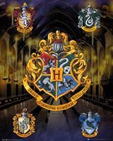 Harry Potter House Crests Poster 40x50cm