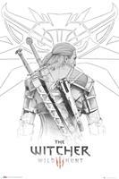GBeye The WItcher Geralt Sketch Poster 61x91,5cm