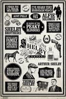GBeye Peaky Blinders Infographic Poster 61x91,5cm