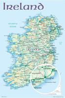 GBeye Ireland Map 2012 Poster 61x91,5cm