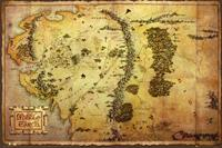 GBeye The Hobbit Map Poster 91,5x61cm