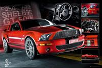GBeye Easton Red Mustang GT500 Poster 91,5x61cm