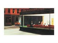 PGM Edward Hopper - Nighthawks Kunstdruk 80x60cm