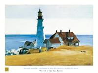PGM Edward Hopper - Lighthouse and Buildings Kunstdruk 80x60cm