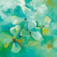 PGM Anne L. Strunk - Floating Flowers Kunstdruk 98x98cm