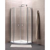 Royal Plaza Clever douchecabine kwartrond 90x90x195cm chroom profiel helder glas met Clean coating 55877