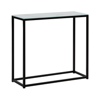 Beliani Sidetable marmer-look wit/zwart DELANO