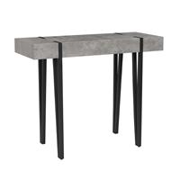 Beliani Kaptafel hout grijs betonlook ADENA