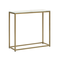 Beliani Sidetable marmer-look wit/goud DELANO
