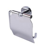 AquaVive toiletrolhouder met klep chroom