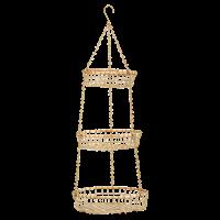 Madam Stoltz Hangende manden plat brass 23/28/32x90 cm