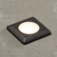 Fumagalli LED inbouwlamp Aldo hoekig zwart/helder 3.000K