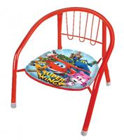 Super Wings metalen stoel 36 x 35 x 36 cm rood/multicolor