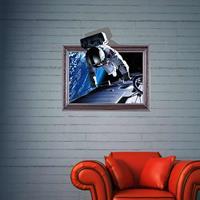 3D Astronaut verwijderbare muurkunststickers, afmetingen: 60 x 58 x 0,3 cm